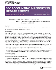 SEC Accounting and Reporting Update
